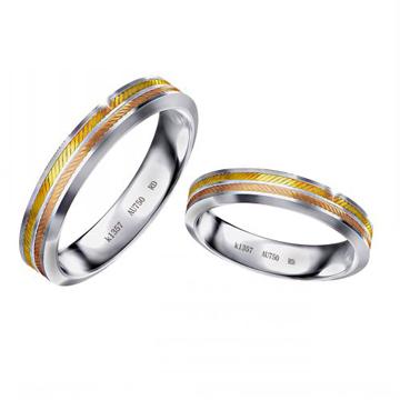 18K双色彩金戒指
