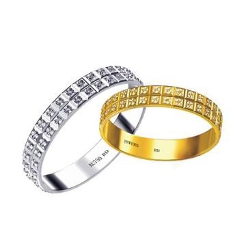 18K双色戒指