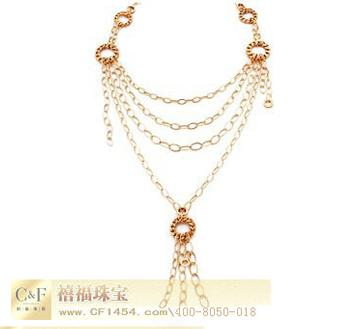 C&F时尚彩金项链