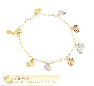 C&F时尚彩金手链