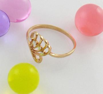 18K彩金戒指