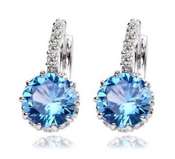 蓝色多瑙河耳环