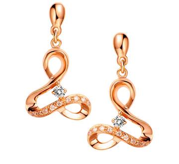 Lady GaGa系列-红18K金钻石耳环