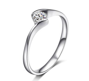 爱的呓语——18k白金钻石女结