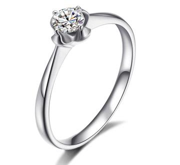 幸运指环——27分18k白金钻石