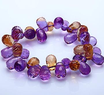 铂晶尔曼--紫黄晶手链