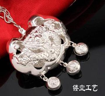 蛟龙戏珠锁