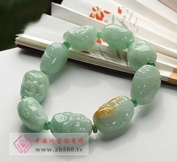 糯种精雕十八罗汉珠翡翠手串