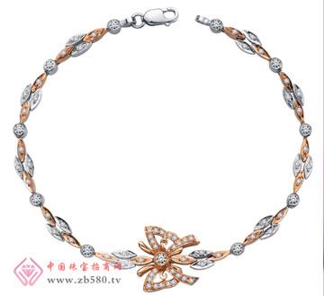 彩18K金钻石手链