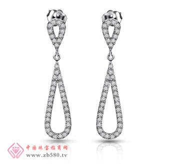 白18K金钻石耳饰
