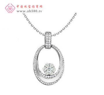 梦幻年华 18K白金钻石吊坠