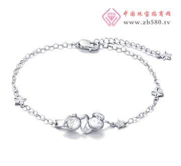 光身福星宝宝Pt950铂金手链