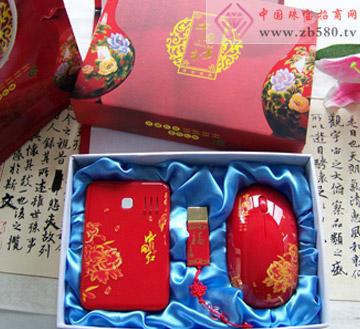 中国红电源+中国红福字4G U盘+中国