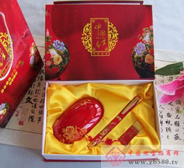 中国红无线鼠标+中国红陶瓷笔+中国