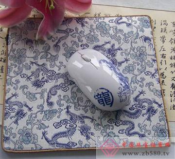 丝绸鼠标垫+鼠标