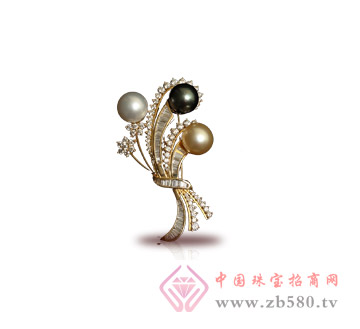 中国珠宝--珍珠胸针