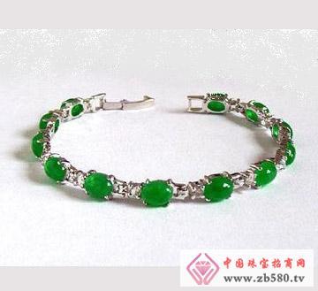 鑫玉泰珠宝--18k镶嵌手链
