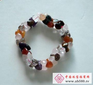 鑫玉泰珠宝--七彩水晶手链