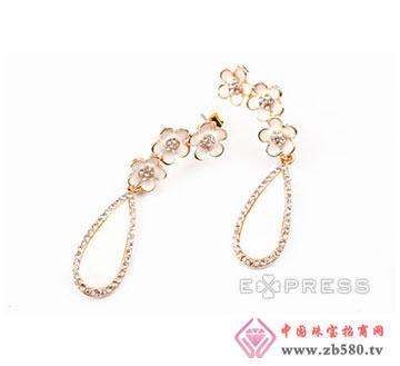 小花珍珠母贝耳环