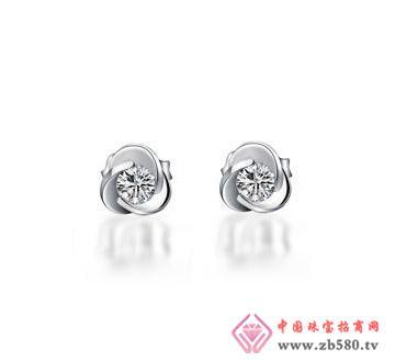 太福珠宝--钻石耳钉01