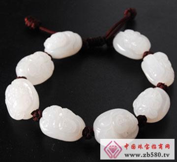 白玉寿星公手链