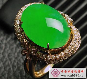 晶翠良缘--冰种阳绿戒指