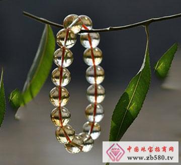 黄水晶手链