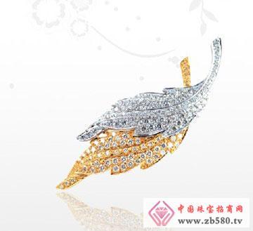 18K钻石胸针