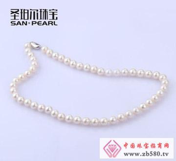 100%天然珍珠项链