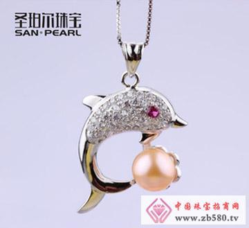 天然淡水珍珠吊坠-8.5-9mm