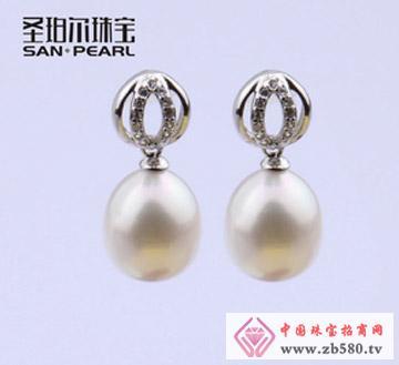 天然淡水珍珠耳环10-11mm