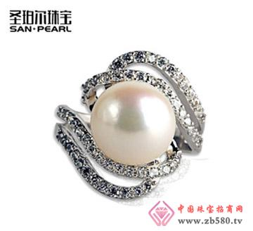 天然淡水珍珠戒指12mm