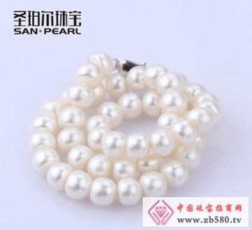 天然淡水珍珠项链-10-11mm