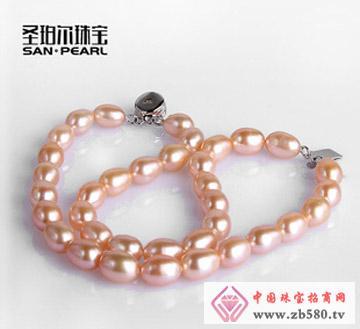 天然珍珠手链双排7-8mm