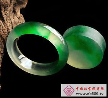 翠龙轩珠宝--极品花色翡翠手镯