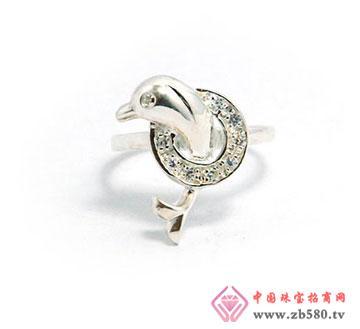 925银海豚戒指