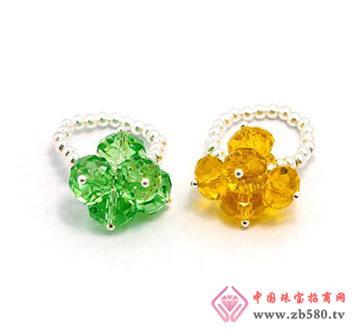 925银水晶戒指