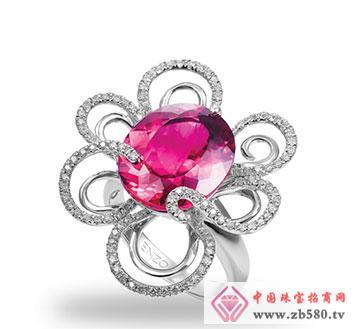 红碧玺戒指