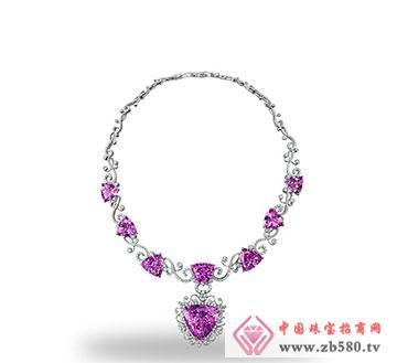 紫锂辉石项链