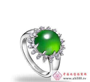 翠绿欧泊戒指