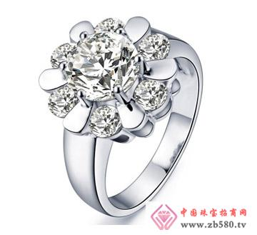 H色钻石结婚女戒