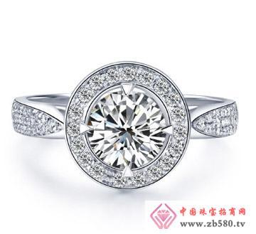 H色钻石结婚女戒指