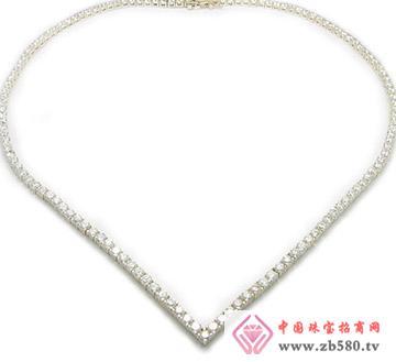 戴安娜珠宝--简约时尚单排石项链