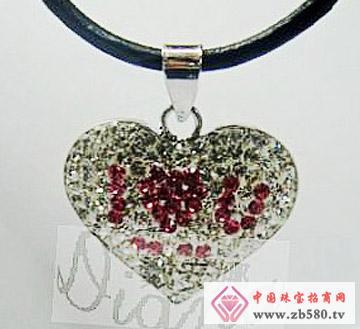 戴安娜珠宝--水钻吊咀爱你之心