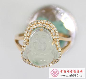 九麟珠宝--18K金翡翠镶嵌戒指01
