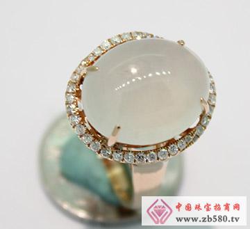 九麟珠宝--18K金翡翠镶嵌戒指03