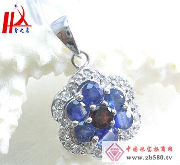 925银天然优质泰国蓝宝石吊坠
