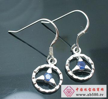 S925银蓝宝石耳坠