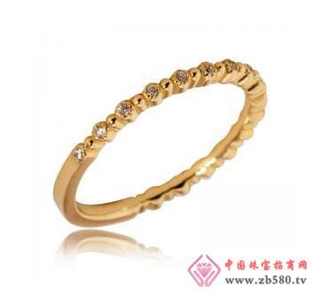 14K黄金镶钻戒指