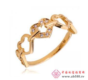 14K黄金心形戒指